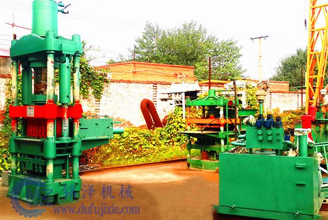小型耐火材料液压砖机生产视频